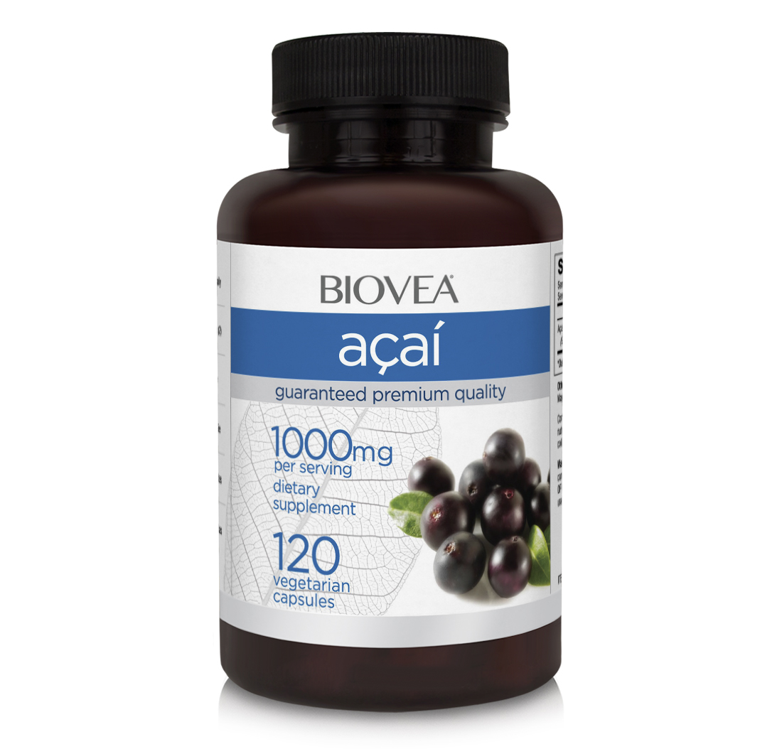 Acai Berry 1000mg 120 Capsules | BIOVEA Supplements