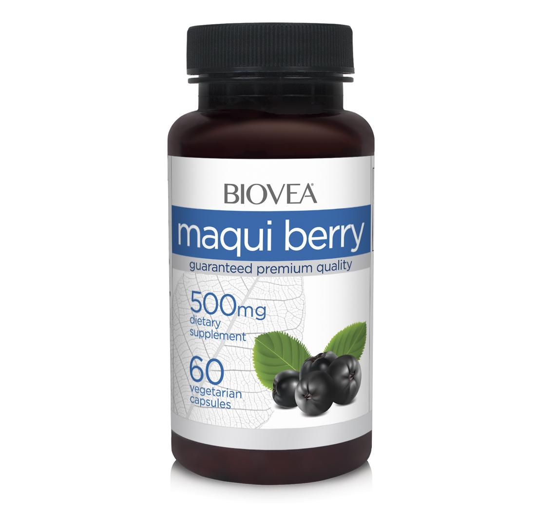 Maqui Berry 500mg 60 Capsules   BIOVEA Supplements