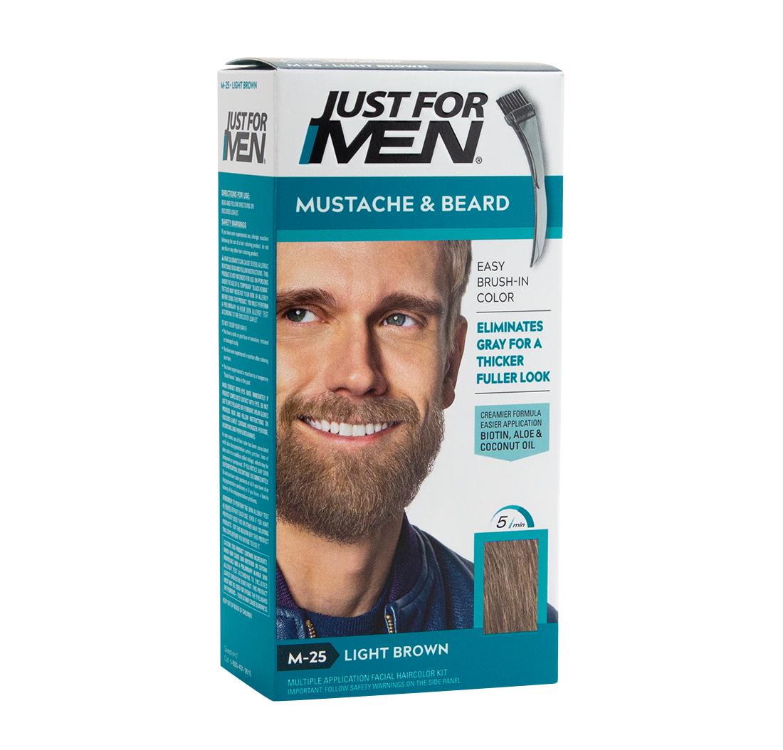 Just For Men Mustache Beard Brush In Colour Gel Light Brown