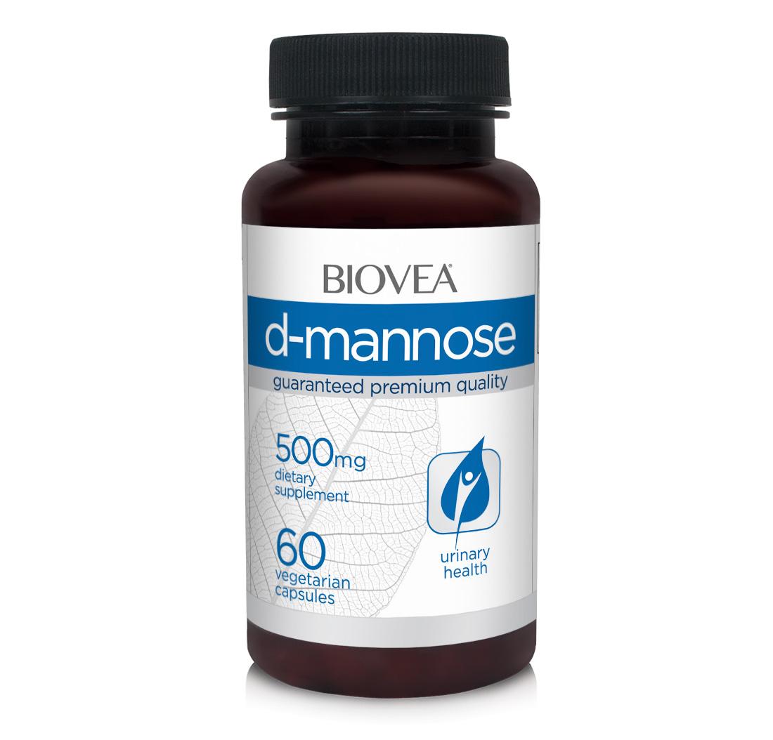 D Mannose 500mg 60 Capsules   BIOVEA   Women's Health