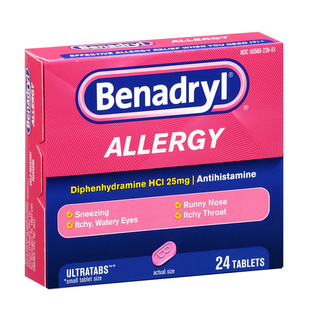 Benadryl Allergy 24 Ultratab Tablets | Benadryl