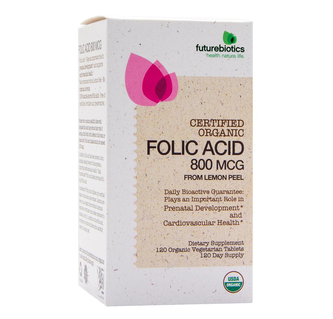ÁCIDO FÓLICO 120 Comprimidos | Futurebiotics