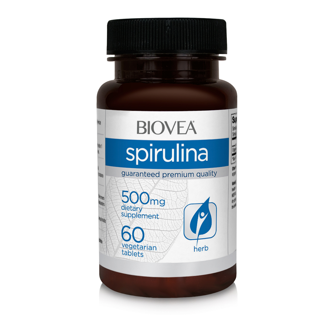 SPIRULINA 500mg 60 Tablets | BIOVEA