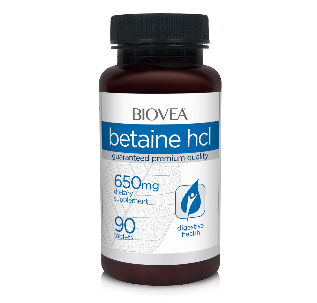 Betaine HCL 650mg 90 Tabletten   BIOVEA