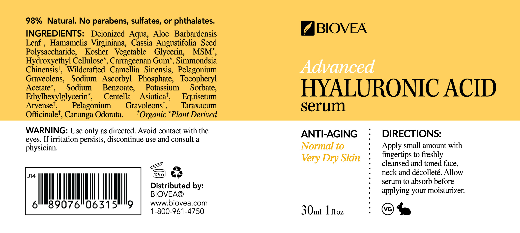 s rum avanc l 39 acide hyaluronique bio ylang ylang 30ml. Black Bedroom Furniture Sets. Home Design Ideas