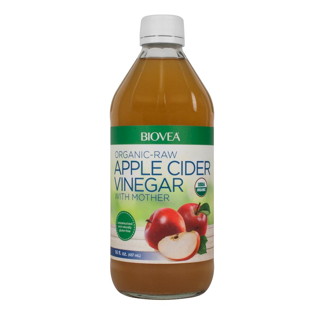 Vinaigre de cidre de pomme avec la m re cru biologique - Mere de vinaigre de cidre ...