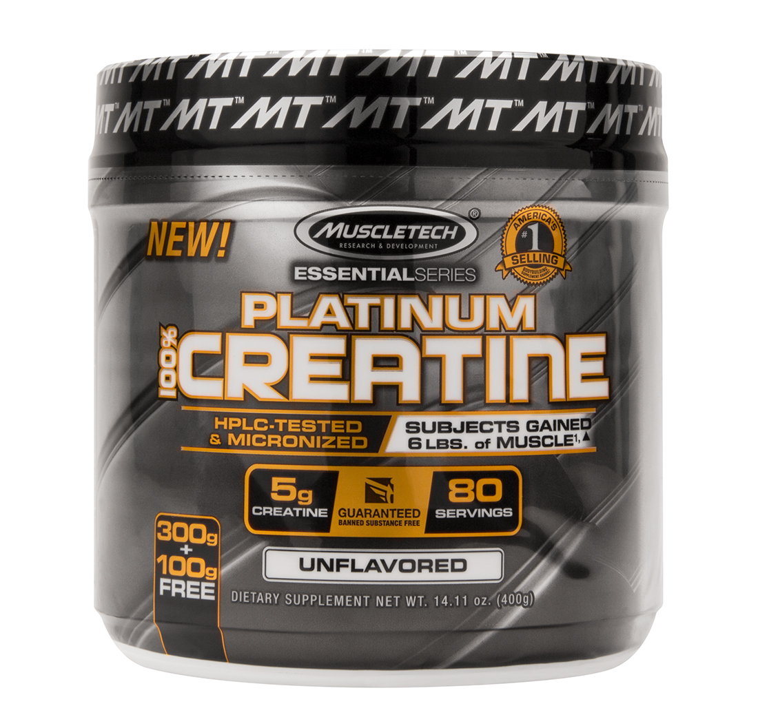 PLATINUM 100% CREATINE (Unflavoured) 80 Servings by MuscleTech ...
