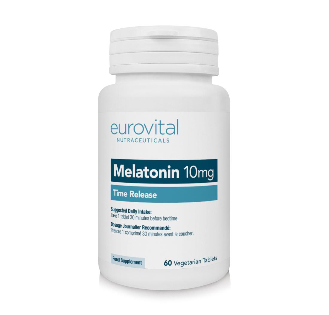 MELATONIN 10mg (Time Release) 60 Vegetarian Tablets By
