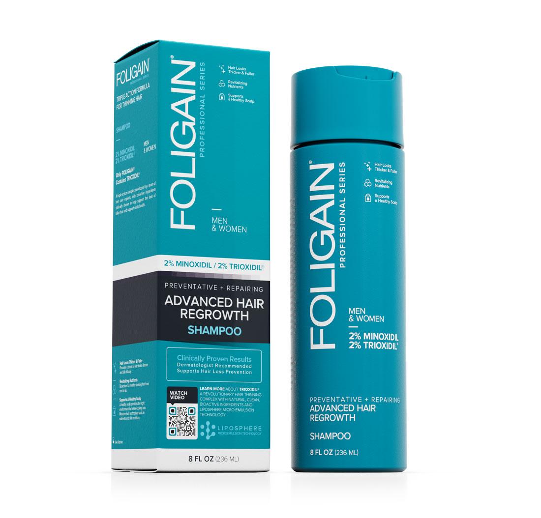 Souvent FOLIGAIN Shampoo per la ricrescita dei capelli con 2% Minoxidil e GX98