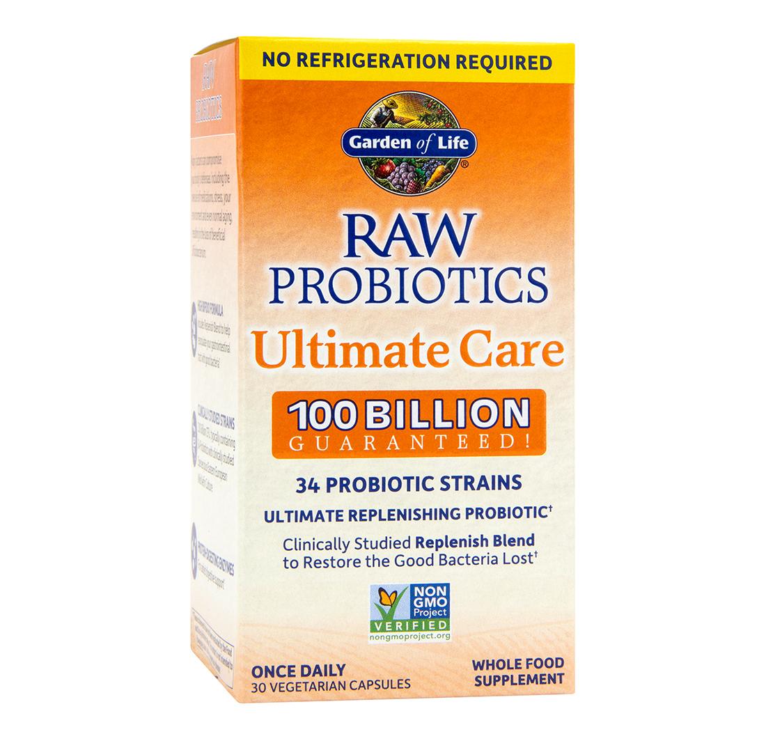 Raw Probiotics Ultimate Care 100 Billion Cfu 30 Vegetarian Capsules By Garden Of Life Biovea South Korea